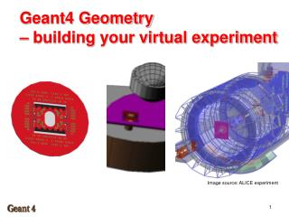 Geant4 Geometry –  building your virtual experiment
