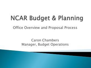 NCAR Budget & Planning
