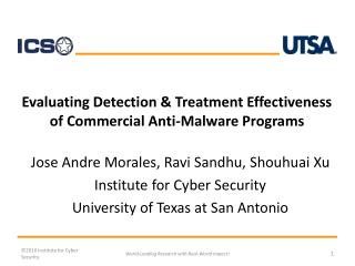 Evaluating Detection & Treatment Effectiveness  of Commercial Anti-Malware Programs