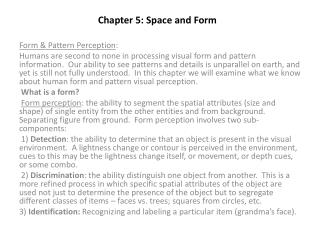 Chapter 5: Space and Form