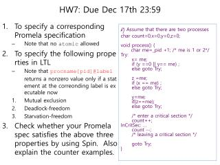 HW7: Due Dec 17th 23:59