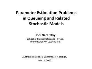 Parameter Estimation Problems in  Queueing  and Related Stochastic Models