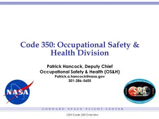 Code 350: Occupational Safety & Health Division