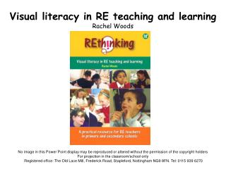 Visual literacy in RE teaching and learning Rachel Woods