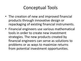 Conceptual Tools