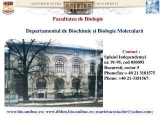 Contact  :  Splaiul Independenţei  nr. 91-95, cod  050095  Buc uresti , sector 5