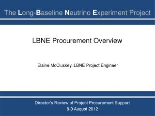 LBNE Procurement Overview