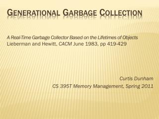 Generational Garbage Collection