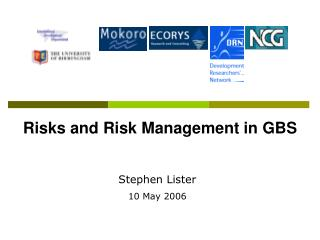 Risks and Risk Management in GBS