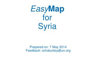 Easy Map for Syria