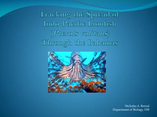 Tracking the Spread  of   Indo-Pacific Lionfish ( Pterois volitans )  Through  the Bahamas