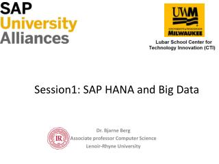 Session1: SAP HANA and Big Data