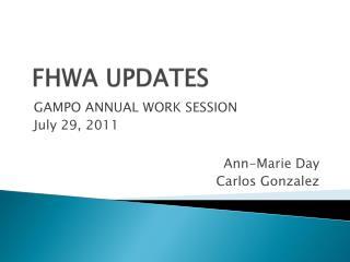 FHWA UPDATES