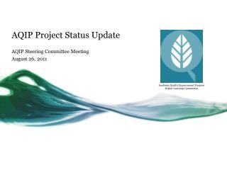 AQIP Project Status Update