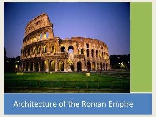 Architecture of the Roman Empire