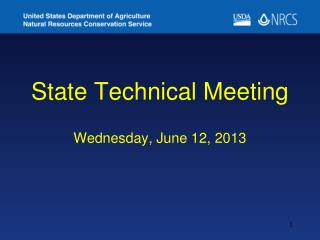 State Technical Meeting  Wednesday,  June 12,  2013
