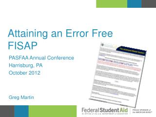 Attaining an Error Free FISAP