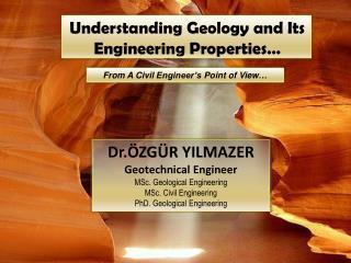 Understanding Geology and Its Engineering Properties …