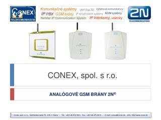 CONEX, spol. s r.o.