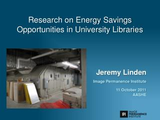 Research on Energy Savings Opportunities in University Libraries