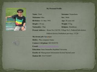 \ My Personal Profile