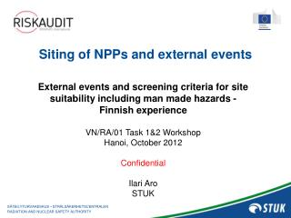 Siting  of NPPs and external events