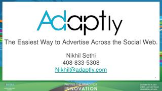 The Easiest Way to Advertise Across the Social Web.