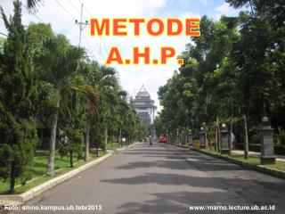 METODE   A.H.P.