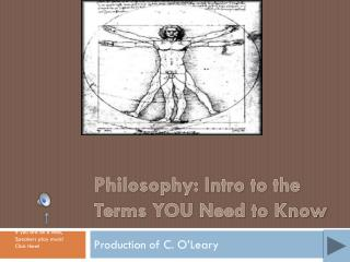 Philosophy: Intro to the Terms YOU Need to Know