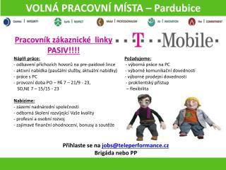 VOLNÁ PRACOVNÍ MÍSTA – Pardubice