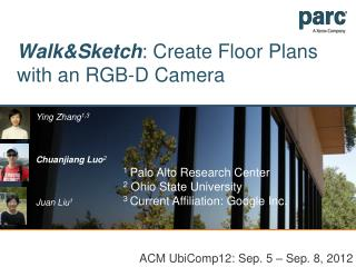 Walk&Sketch : Create Floor Plans with an RGB-D Camera