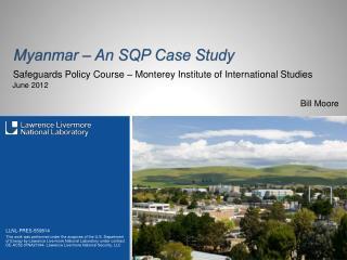 Myanmar � An SQP Case Study