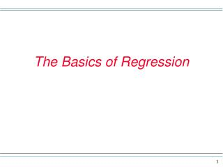 The Basics of Regression