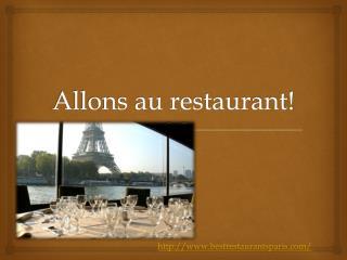 Allons au restaurant!