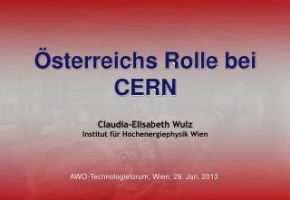 Österreichs Rolle bei  CERN
