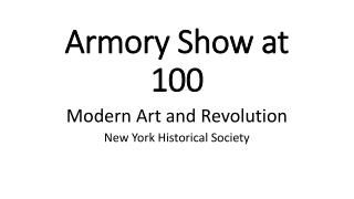 Armory Show at 100