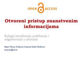 Otvoreni pristup znanstvenim informacijama