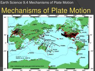 Earth Science 9.4 Mechanisms of Plate Motion