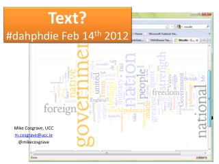 Text? # dahphdie  Feb 14 th  2012
