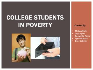 College Students in Poverty