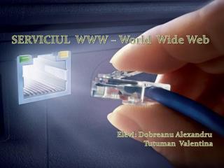 SERVICIUL  WWW – World  Wide Web Elevi :  Dobreanu Alexandru Tutuman Valentina