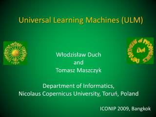 Universal Learning Machines (ULM)
