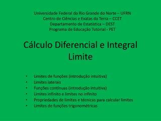 Cálculo Diferencial e Integral Limite