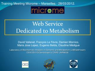 Training Meeting  Microme  –  Marseilles  - 28/03/2012.