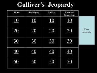 Gulliver's  Jeopardy