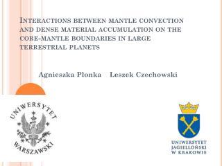 Agnieszka Płonka    Leszek Czechowski