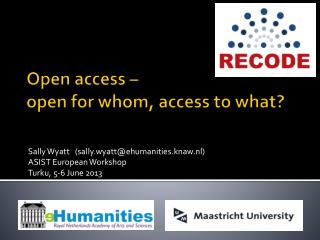 Open access –  open  for whom , access  to what ?
