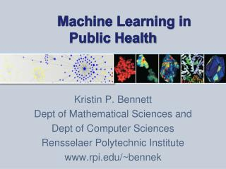 Machine Learning in Public Health