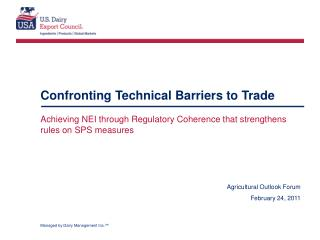 Confronting Technical Barriers to Trade