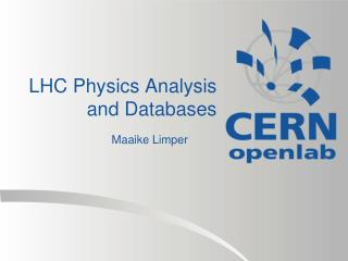 LHC Physics Analysis and Databases